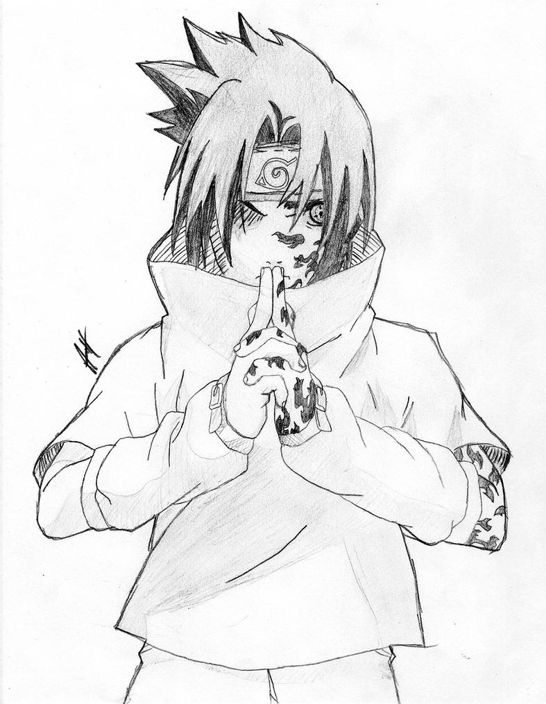 Sasuke Uchiha Curse Mark by Roadhouse-Hunter