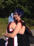 AoKuro hug
