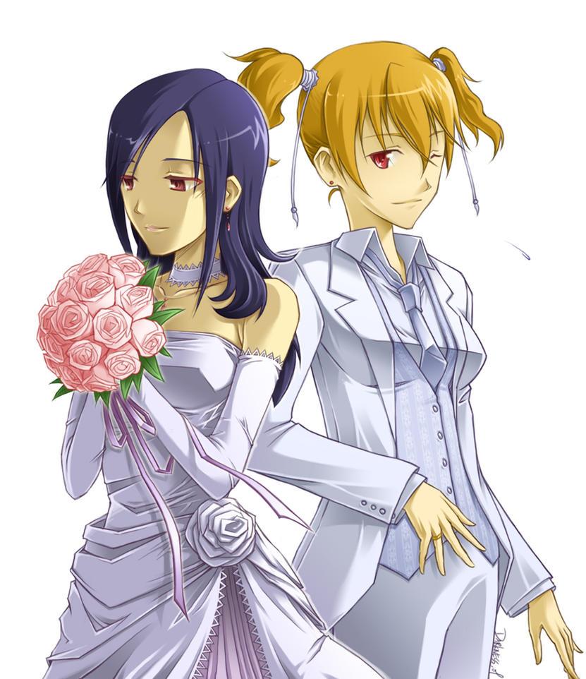 Love X Setsuna Wed dress ver. by darkness127