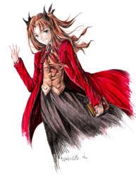 Fate Stay Night -- Rin Tohsaka by darkness127