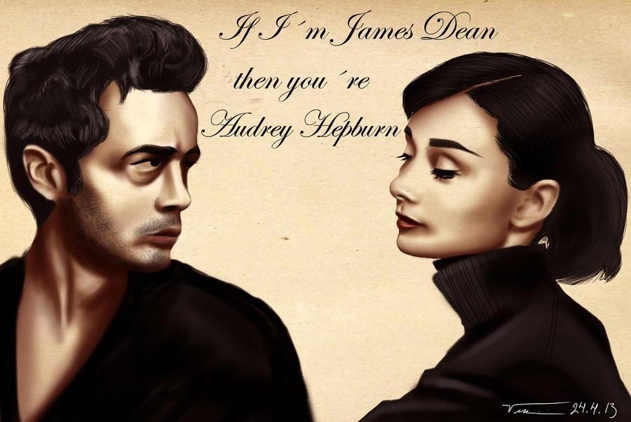 James Dean and Audrey Hepburn by vinman99999 on DeviantArt