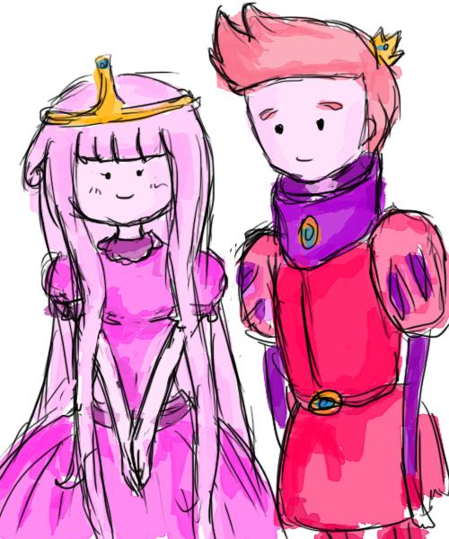 Princess Bubblegum And Prince Gumball Drawing