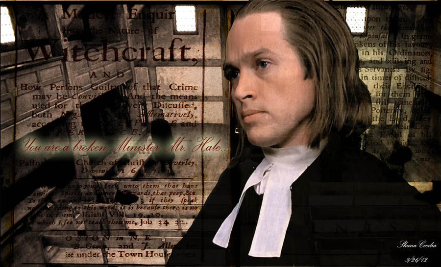 the crucible and hale At the beginning of this crucible, john is man who has fears and is vague but at the end of the play he eventually ends up finding decency and is assured about his decisions while reverend hale initially is a convinced and positive about his values.