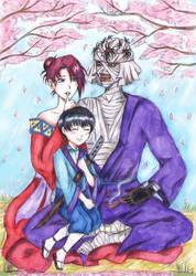 Shishio,Yumi and little Sojiro by NikaShu