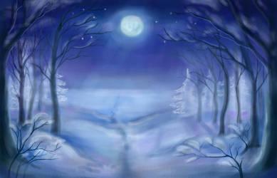 Moonlight night by NikaShu