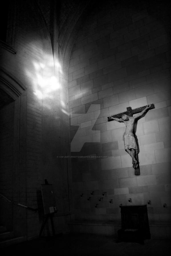 Jesus and the light by cw-art-photography
