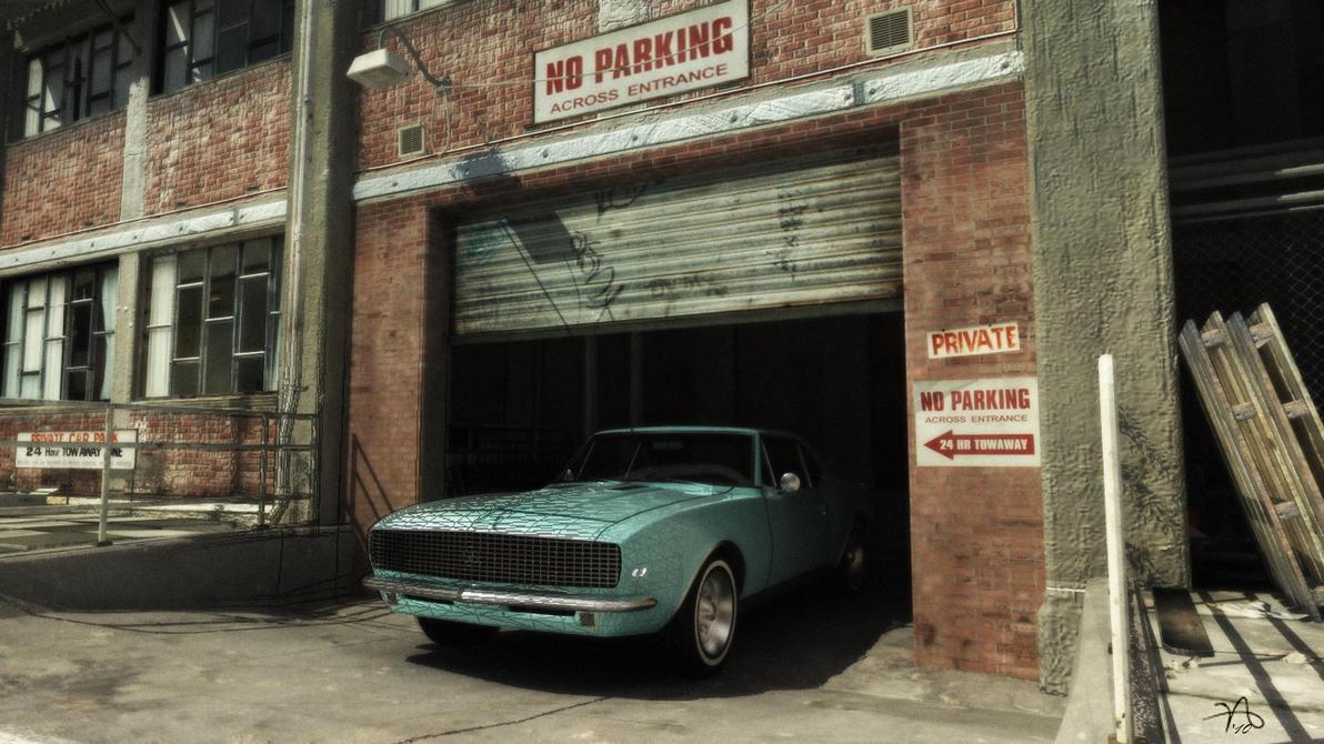 Car in garage by sayedmohsen on deviantart for Garage auto b2