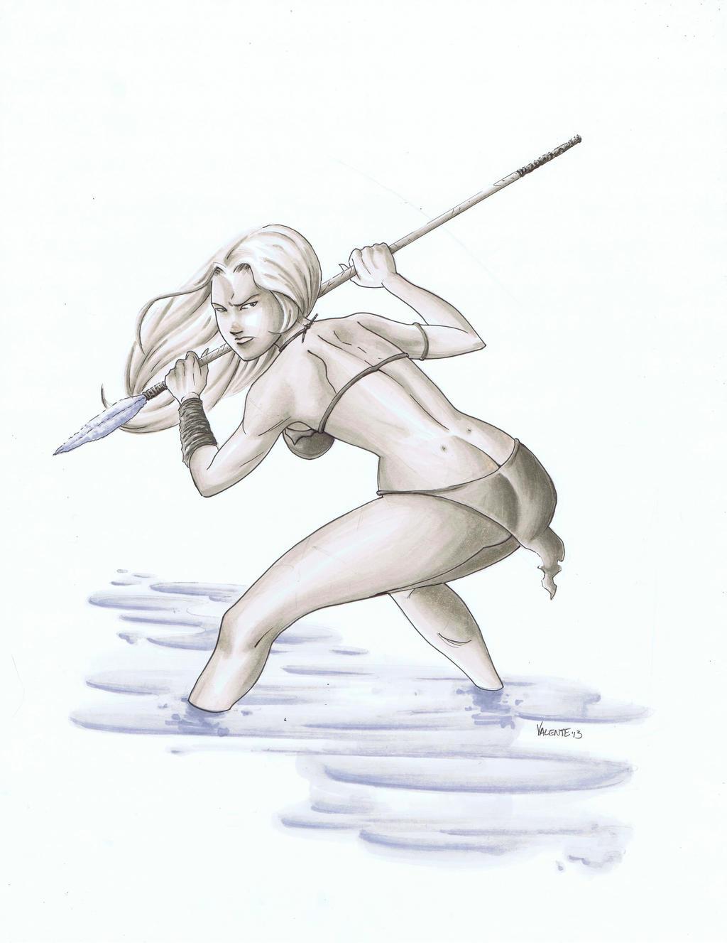 Shanna marker illustration by NJValente