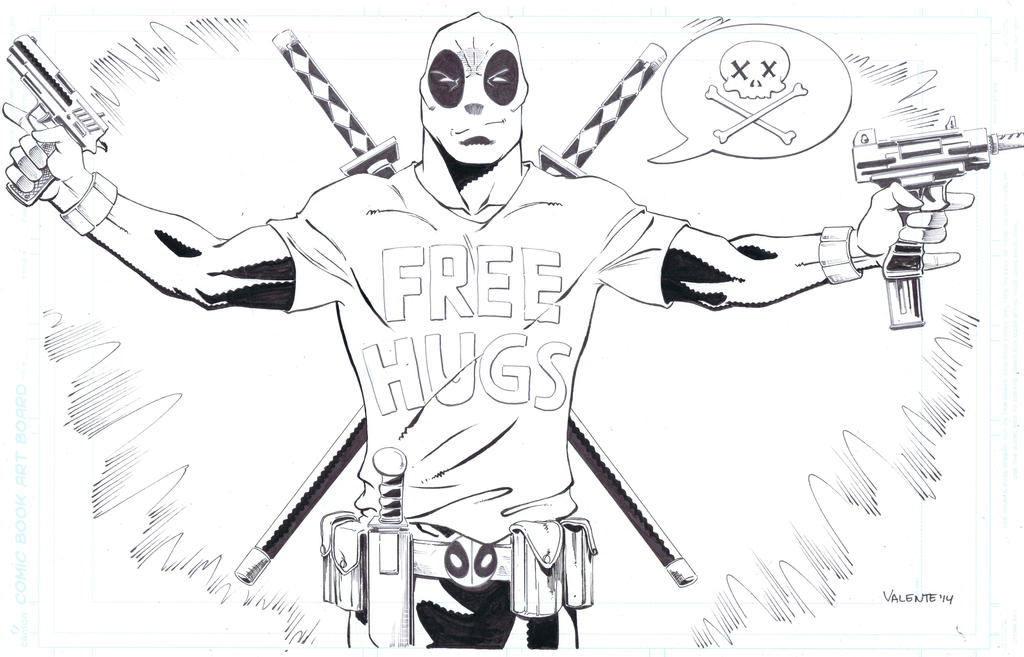 Deadpool's giving away free hugs! by NJValente