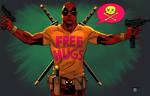 Deadpool Free Hugs colored