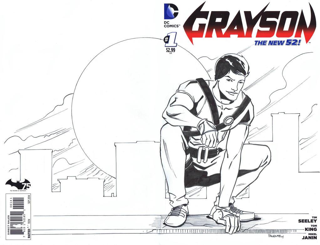 Grayson sketch cover by NJValente