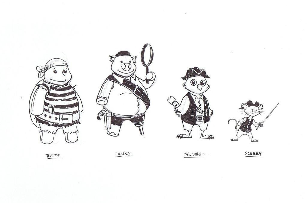 Knickknacks pirate crew by NJValente