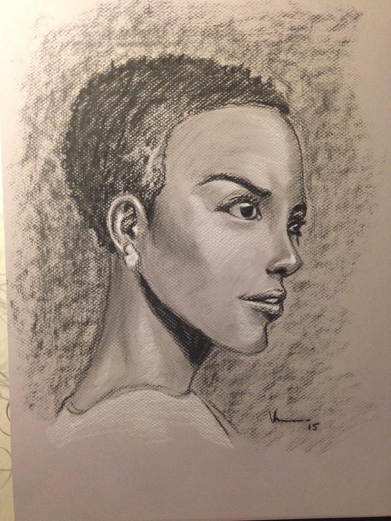 Charcoal portrait by NJValente