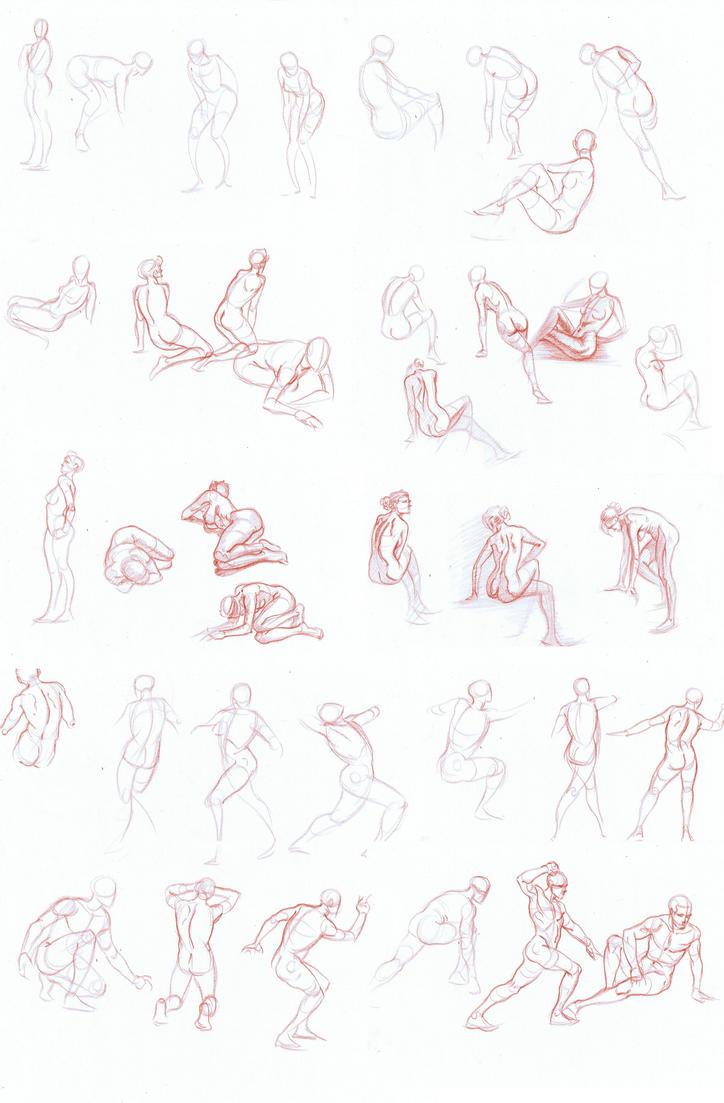 Gesture drawings by NJValente