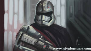 Captain Phasma speed paint by NJValente