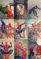 Spider-Man sketch cards by NJValente