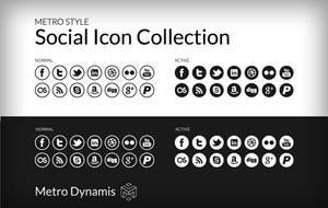 Metro Style UI Social Icon Collection