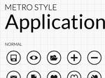 Metro Style UI Application Icons Collection