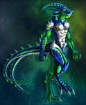 Anthro Opal Dragon