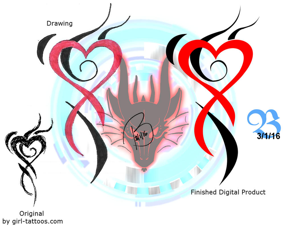 Unique Heart Tattoo by Caeruleus-Femella