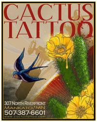 Cactus Tattoo Poster