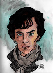 Pop Portraits: Sherlock by brodiehbrockie