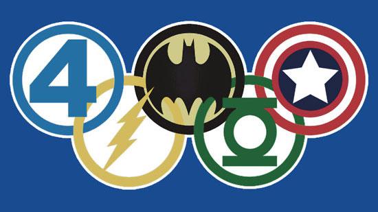 Superhero Olympic Rings by brodiehbrockie