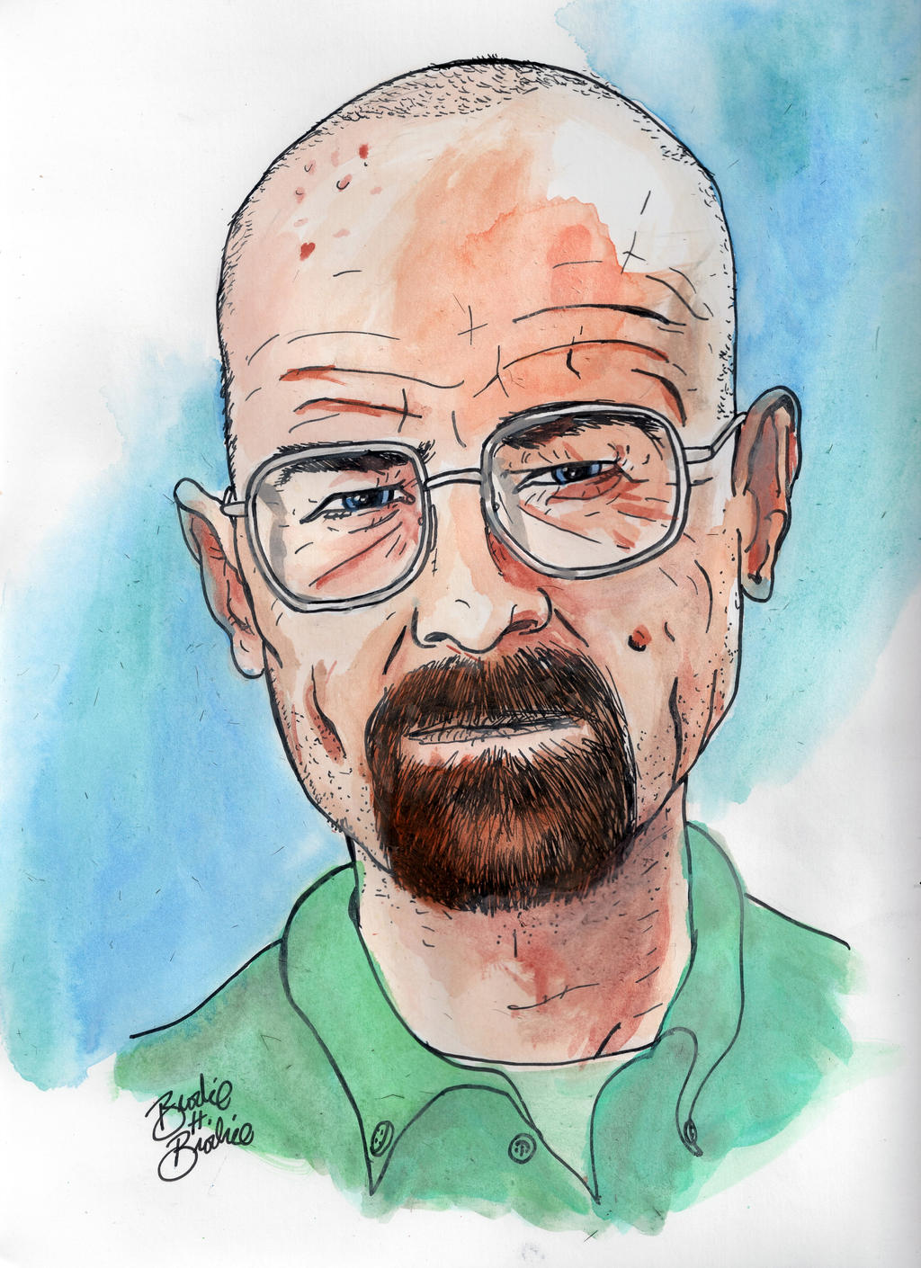 Pop Portraits: Walter White by brodiehbrockie