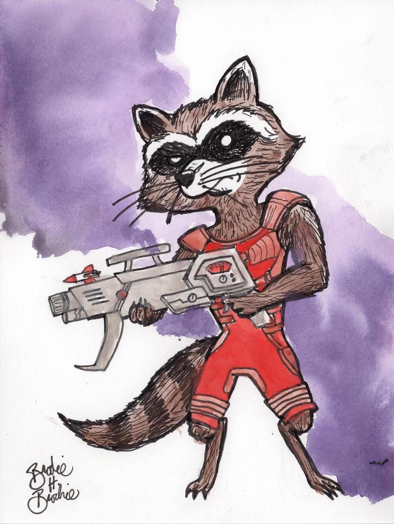 Rocket Racoon by brodiehbrockie