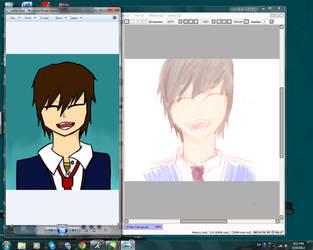 Adobe vs PaintSai by seung624
