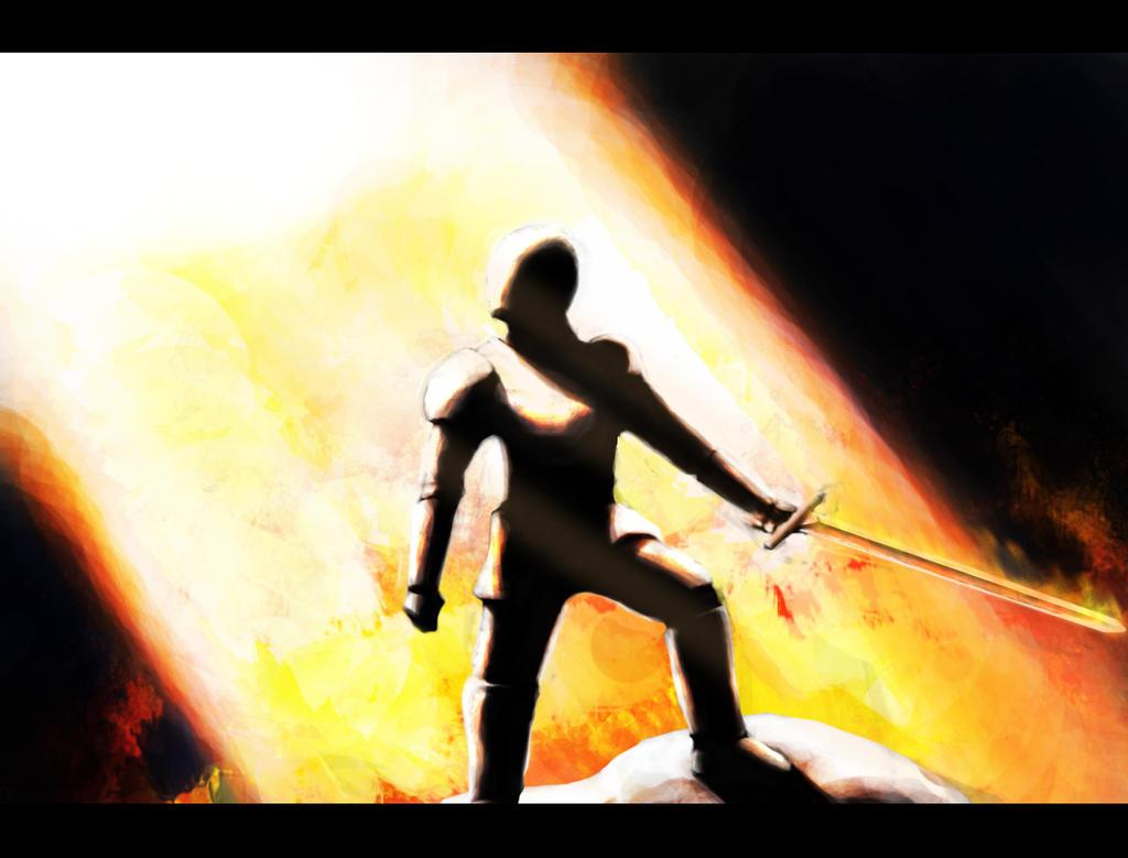 Fire Knight by interstellarian