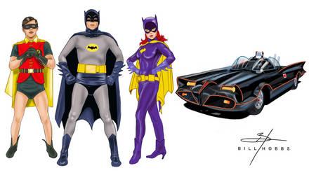 1960s Batman, Robin And Batgirl by BillHobbs