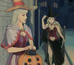 White witch Fina and Dark Fina by ArizXD