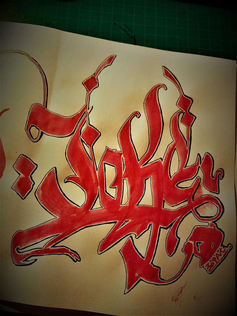 Joke Calligraphy exercise by Dave9o2