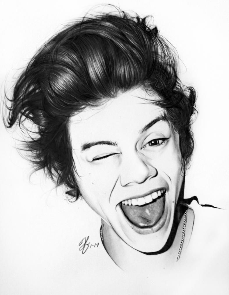 Line Drawing Styles : Harrystyles by jordanxmichelle on deviantart