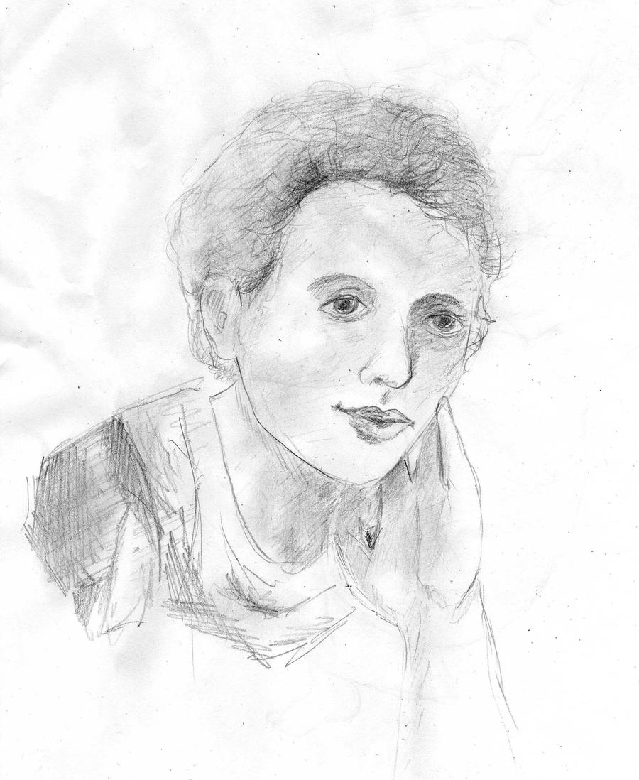 This is a photo of Amazing Marie Curie Drawing