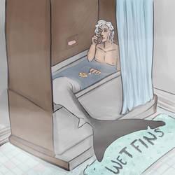 Chillin in a bathtub 0 feet apart bc gt