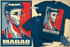 Badass Madao T-shirt by apalahnamanyaitu