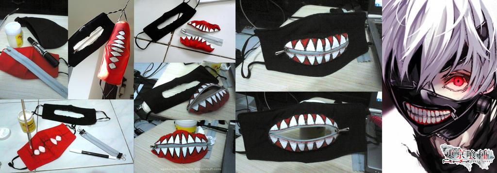 Как сделать маску канеки кена своими руками 27