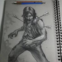 Zombie Daryl from Walking dead