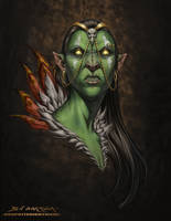 The Ork Priestess by graphitenightmare