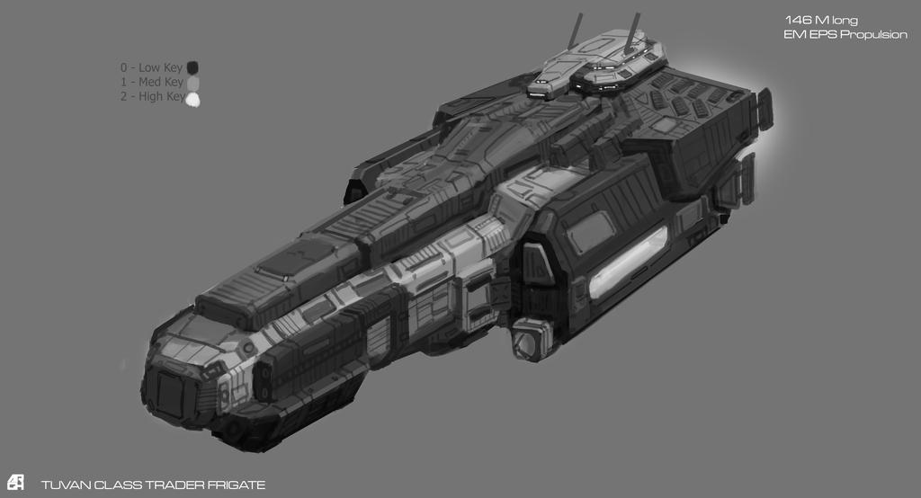 Tuvan Class Trader Frigate by ARGHouse