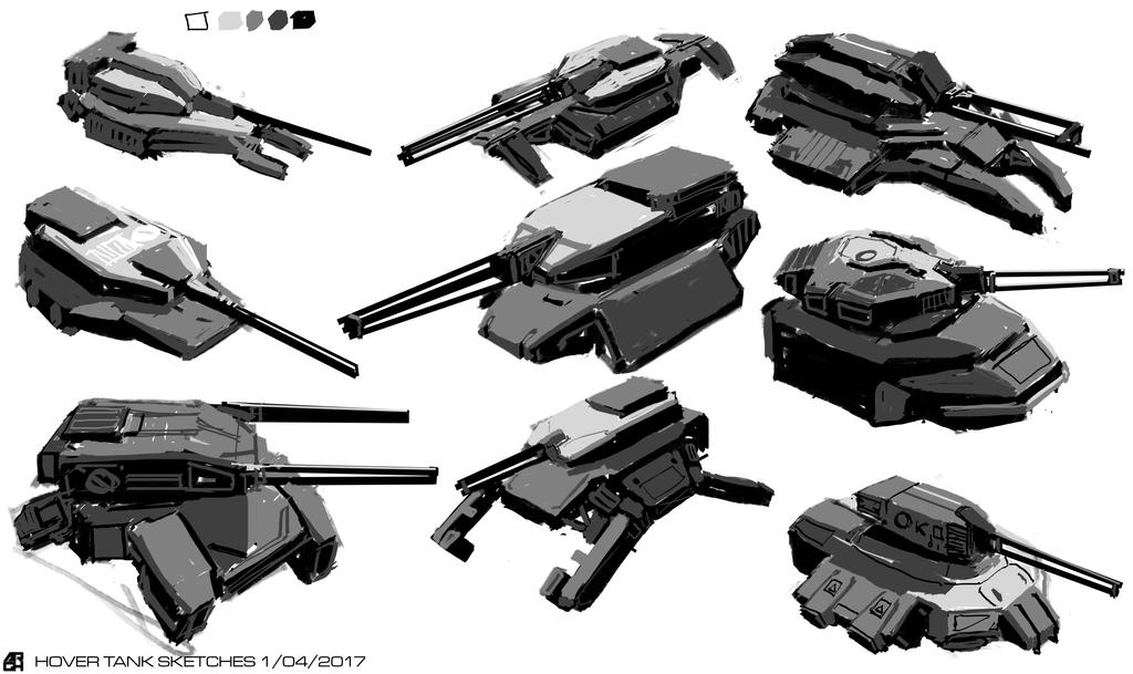 Hover Tank Sketches by ARGHouse