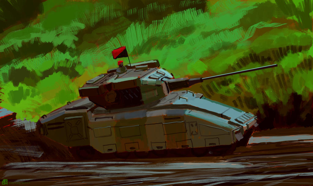 Tank Speedpainting 02 by ARGHouse