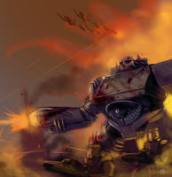Tank Battle by JohnMBlaz