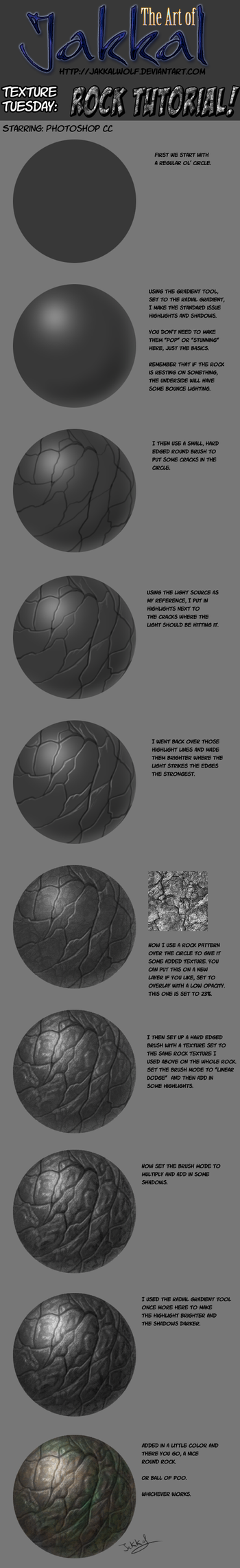 Texture Tuesday: Rock Tutorial by JakkalWolf