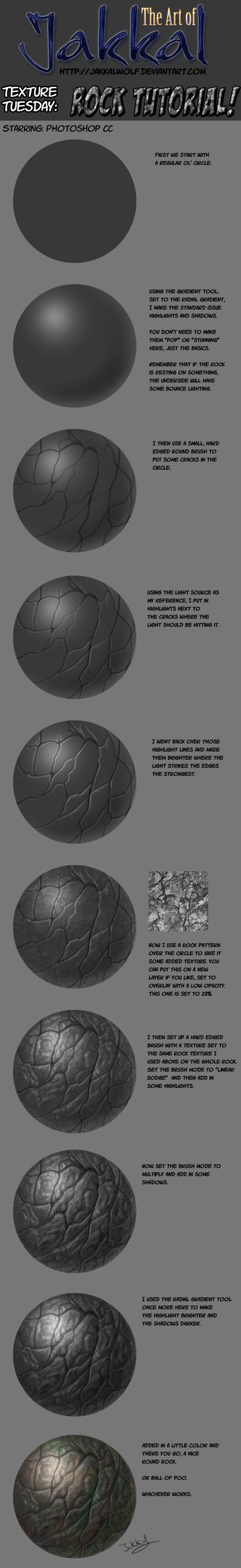 Texture Tuesday: Rock Tutorial by JakkalWolf