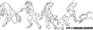 LSC: Human - Unicorn Transformation by JakkalWolf