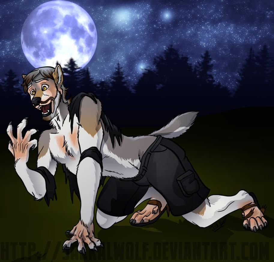 Werewolf Transformation (with Alpha Matte) Stock Animation