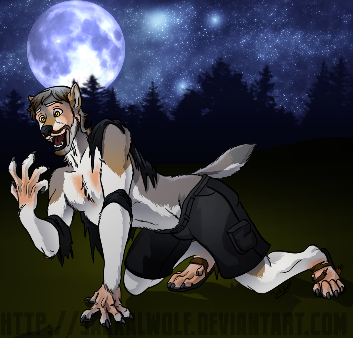 Taller Than Usual (Werewolf TF Transformation) by